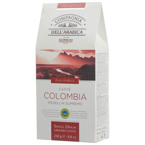 Фото - Кофе молотый Compagnia Dell` Arabica Colombia Medellin Supremo, 250 г кофе молотый compagnia dell arabica brasil santos 125 г
