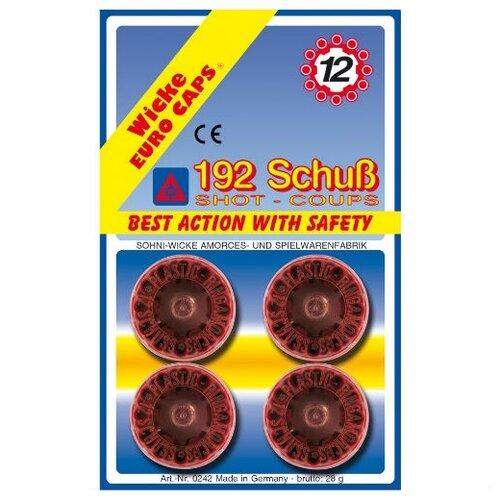 12-зарядные пистоны, 192 шт, блистер упаковка-карта