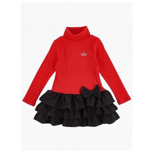 Платье Mini Maxi размер 122, черный/красный платье oodji ultra цвет красный белый 14001071 13 46148 4512s размер xs 42 170