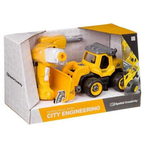 Купить Винтовой конструктор Shenzhen Jingyitian Trade DIY Spatial Creativity LM8013-YZ-1 City Engineering, Конструкторы