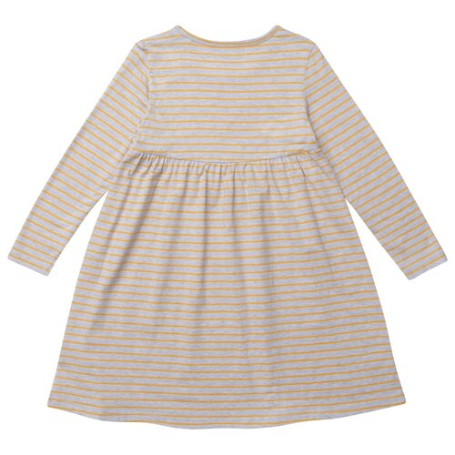 Платье Kogankids размер 92, серый меланж/полоска