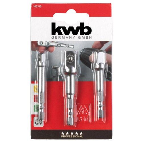 Набор адаптеров для торцевых головок kwb 105310 3 шт. набор абразивных насадок kwb стандарт для мфу 3 шт
