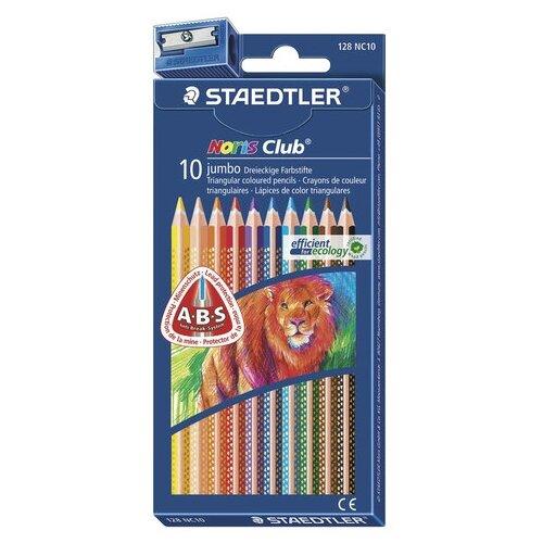 Купить Staedtler Карандаши цветные утолщенные Noris Club, 10 цветов (128 NC10), Цветные карандаши