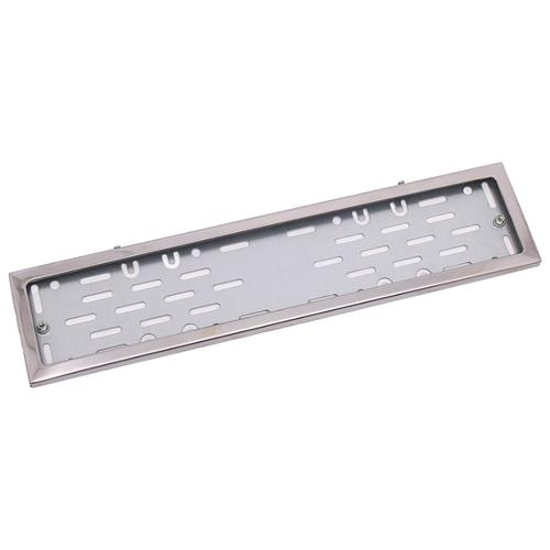 Рамка для номера Dollex SPL-25 серебристый 1 шт. фото