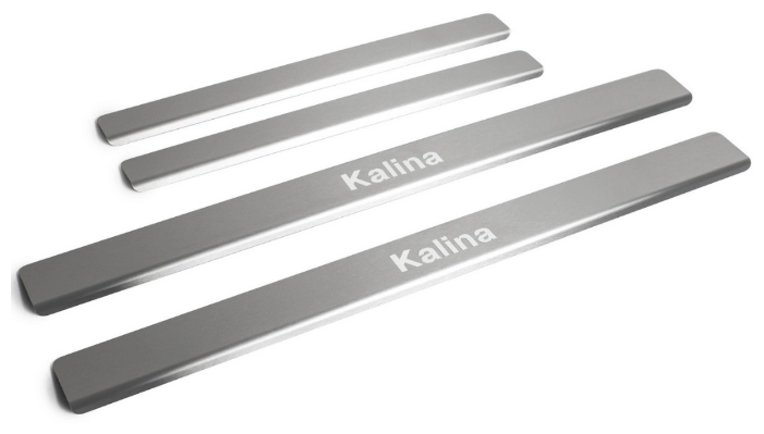 Накладки на внешние пороги для Lada Kalina II (2013-2018) RIVAL NP.6005.3 (комплект 4 шт.)