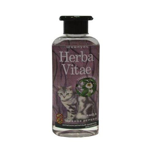 Фото - Herba Vitae шампунь от блох и клещей антипаразитарный для кошек 250 мл шампунь herba vitae для собак и кошек в период линьки 250 мл