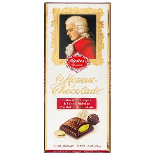 Шоколад Reber Mozart Chocolade Горький шоколад с фисташковым пралине, 100 г
