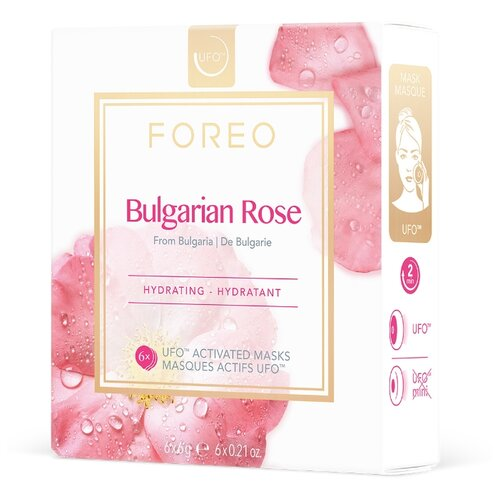 FOREO Bulgarian Rose Маска, активированная UFO, 6 г, 6 шт. foreo call it a night ufo activated mask
