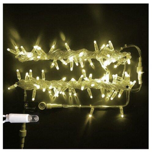 Гирлянда Rich LED Нить RL-S10C-220V-CT, 1000 см, 100 ламп, теплый белый/прозрачный провод по цене 1 880