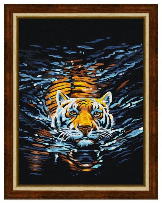 Алмазная живопись Набор алмазной вышивки Плывущий тигр (АЖ-1521) 30х40 см — цены на Яндекс.Маркете
