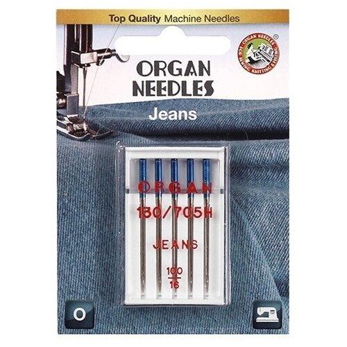 Игла/иглы Organ Jeans 100 синий/серебристый