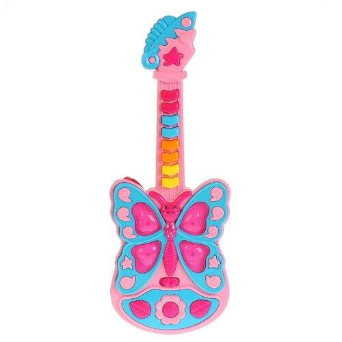 Умка гитара 1312M144 розовый/голубой
