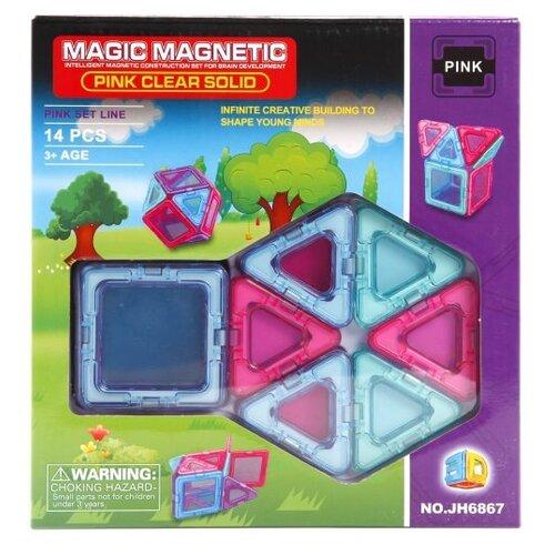 Магнитный конструктор Наша игрушка Magic Magnetic Pink JH6867 Pink Clear Solid игрушка