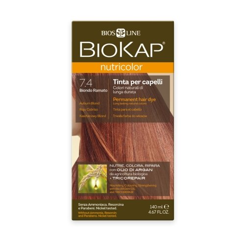 BioKap Nutricolor крем-краска для волос, 7.4 медный блондин