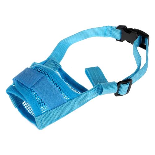Намордник для собак Пижон сетчатый с двойной фиксацией S (3652882/3652885/3652888), обхват морды 16 см голубой