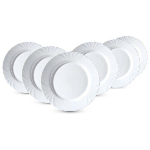 Luminarc Набор обеденных тарелок Cadix 25 см 6 шт белый набор подстановочных тарелок lefard диаметр 25 см 6 шт 274832