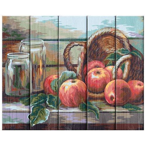 Купить Набор для раскрашивания по номерам (по дереву) Натюрморт с яблоками. Жанна Когай , 40х50см, ФРЕЯ, PKW-1 56, Картины по номерам и контурам