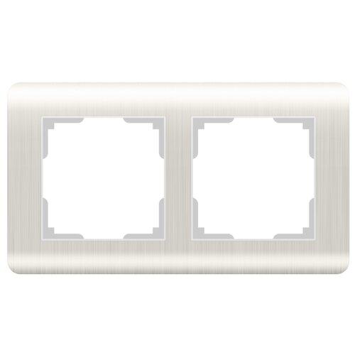 цена Рамка 2п Werkel WL12-Frame-02, перламутровый онлайн в 2017 году