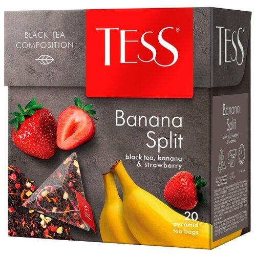 Чай черный Tess Banana split в пирамидках , 20 шт. чай черный tess blueberry tart