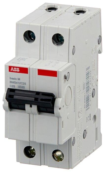 Автоматический выключатель ABB Basic M 2P (C) 4,5kA