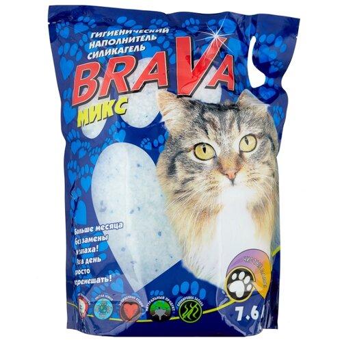 Впитывающий наполнитель Brava Микс 7.6 л впитывающий наполнитель brava классик 10 л