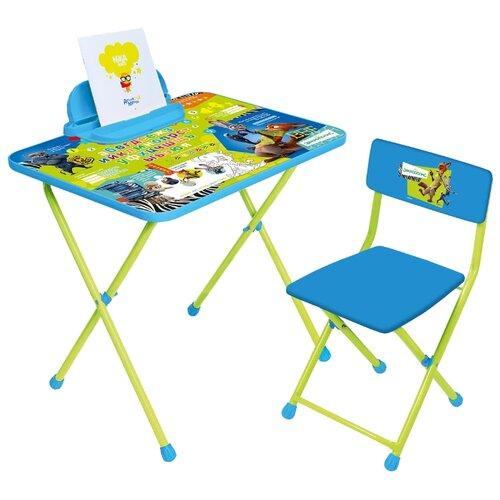 Комплект Nika Зверополис (Д2З) 60x45 см синий / зеленый, Парты и столы  - купить со скидкой