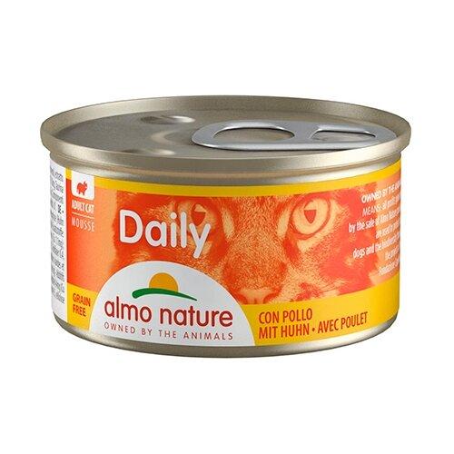 Фото - Корм для кошек Almo Nature Daily Menu с курицей 85 г консервы для кошек almo nature нежный мусс с уткой 85 г