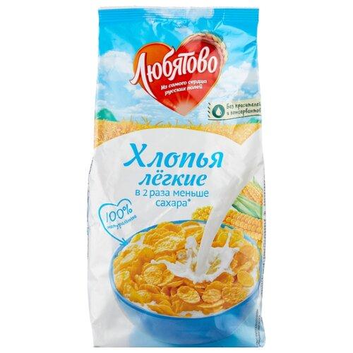 Готовый завтрак Любятово Хлопья кукурузные легкие, пакет, 270 г
