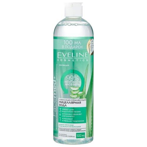 Купить Eveline Cosmetics Facemed+ мицеллярная вода освежающе-успокаивающая с алоэ вера 3 в 1, 500 мл