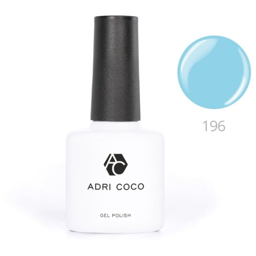Гель-лак для ногтей ADRICOCO Gel Polish, 8 мл, оттенок 196 чистый голубой