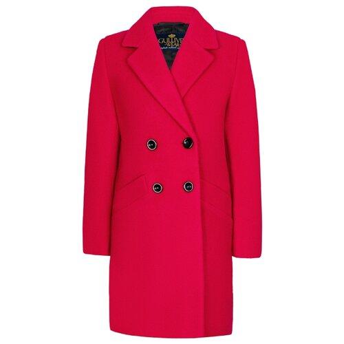Купить Пальто Gulliver 219GSGC4503 размер 158, фуксия, Пальто и плащи