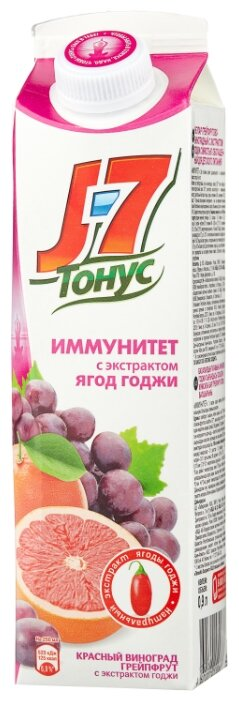 Нектар J7 Тонус Иммунитет Грейпфрут-Виноград-Годжи 1.45 л (8 штук)