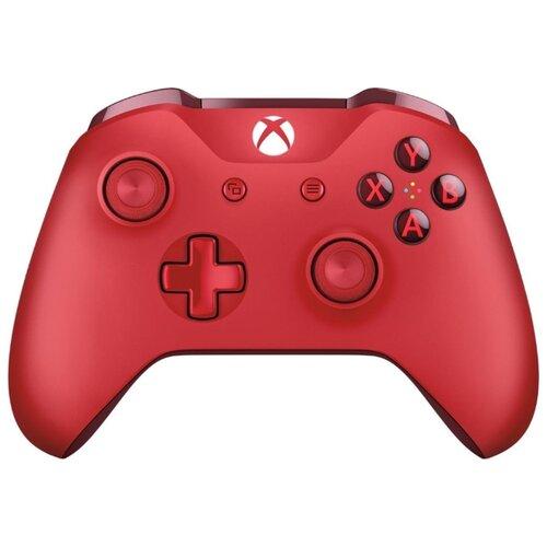 Геймпад Microsoft Xbox One Controller красный геймпад microsoft xbox one controller grey blue bluetooth wl3 00106