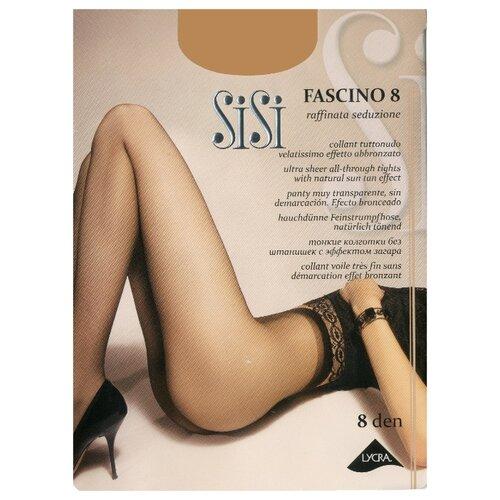 Колготки Sisi Fascino 8 den, размер 4-L, grafite (серый) колготки sisi miss 40 den размер 4 l grafite серый