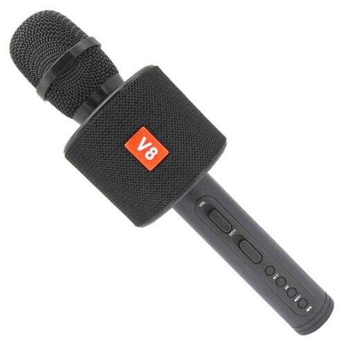 Беспроводной караоке-микрофон V8 (чёрный)