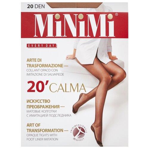 Колготки MiNiMi Calma 20 den, размер 3-M, caramello (бежевый) колготки minimi slim control 20 den размер 3 m caramello бежевый