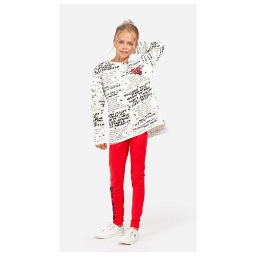 Комплект одежды playToday размер 128, светло-серый/красный/черный