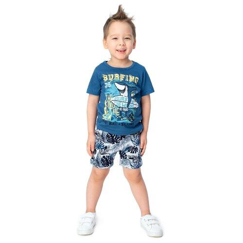 Комплект одежды Веселый Малыш размер 122, синий