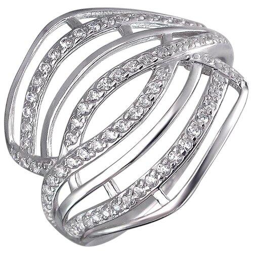 Эстет Кольцо с фианитами из серебра Н11К152708, размер 16.5 ЭСТЕТ