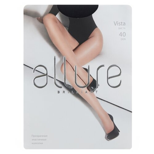 Колготки ALLURE Brilliant Vista, 40 den, размер 5, nero (черный)
