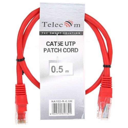 Патч-корд Telecom NA102-R-0.5M RJ-45 (M) 0.5 м CAT5e красный