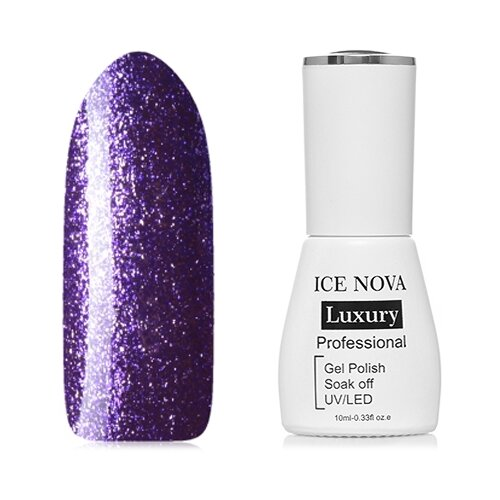 Гель-лак для ногтей ICE NOVA Luxury Professional Shiny Diamond Gel, 10 мл, оттенок №09 chi luxury black seed oil curl defining cream gel