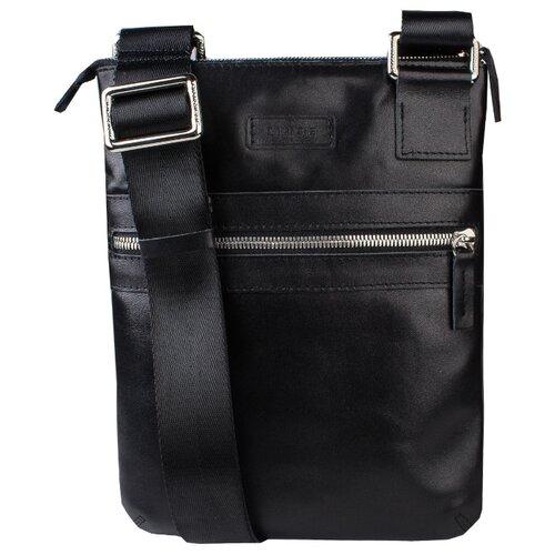 Сумка планшет Dimanche, натуральная кожа, черный сумка поясная dimanche натуральная кожа металлик