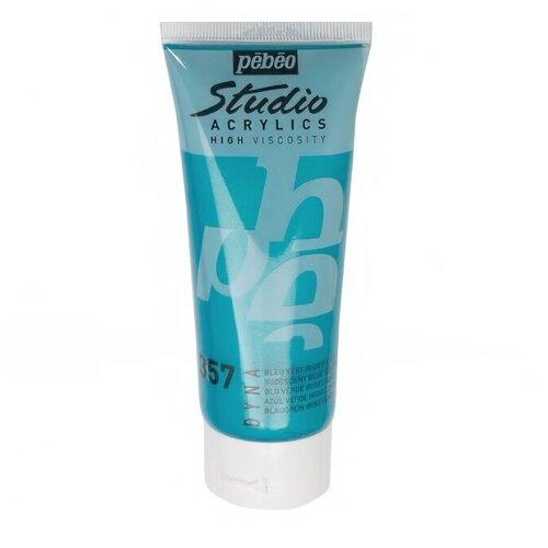Купить Pebeo Краска акриловая Studio Acrylics, 100 мл сине-зеленый, Краски
