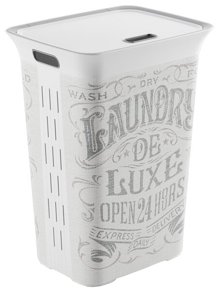 Kis Корзина для белья Chic Hamper Laundry 61х44х35 см белый/серый рисунок