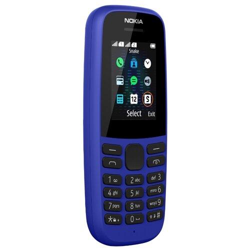 Телефон Nokia 105 SS (2019) синий телефон