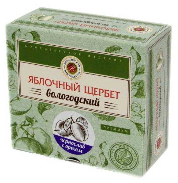 Щербет Вологодская мануфактура яблочный с грецким орехом и черносливом 250 г