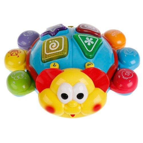 Развивающая игрушка Play Smart Танцующий жук синий/красный/желтый игрушка пластмассовая каталка вертолет play smart pac 28х15х10 см арт 1192