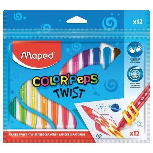 Купить Maped Мелки восковые Color'peps Twist (860612) 12 шт, Пастель и мелки
