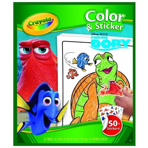 Crayola Раскраска с наклейками. В поисках Дори недорого